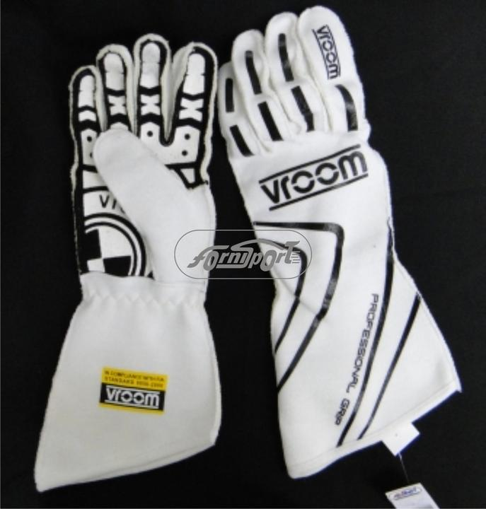 Guantes FIA  Vroom.Grip   Blanco  L